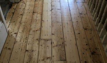 Sanding of Hallway Floor Boards